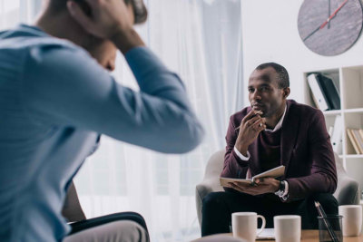 psychologist confronting his client