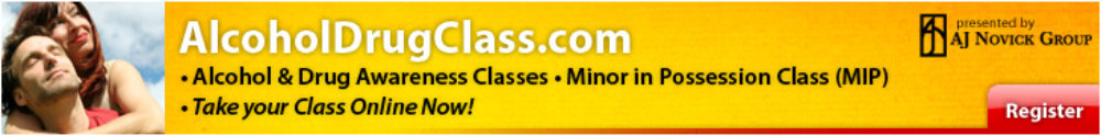 Alcohol Drug Class banner